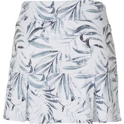Womens Keep It Cool Grayscale Palms Skort
