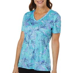 Reel Legends Womens Reel-Tec Baja Palm Short Sleeve Top