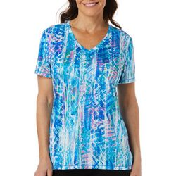 Reel Legends Womens Reel-Tec Watery Geometric Top