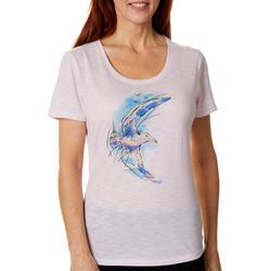 Womens Colorful Winsome Seagull Graphic T-Shirt