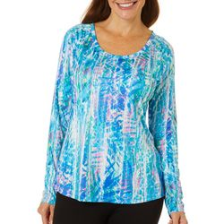 Reel Legends Womens Reel-Tec Rainbow Skin V-Neck Top