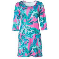 Reel Legends Womens Keep It Cool Bird Of Paradise Dress