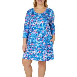 Reel Legends Womens Keep It Cool Retro Waves Dress