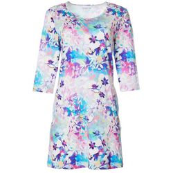 Reel Legends Womens Keep It Cool Orchid Bouquet Dress