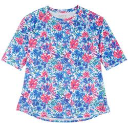 Womens Elbow Floral Top