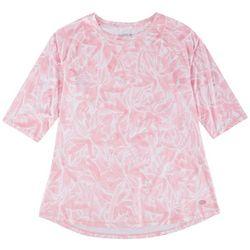 Reel Legends Womens Printed Pattern 3/4 Sleeve Top