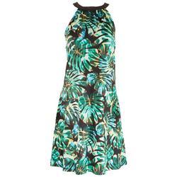 Womens Printed Halter Top Dress