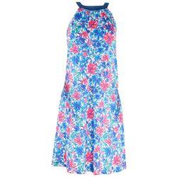 Reel Legends Womens Print Halter Top Dress