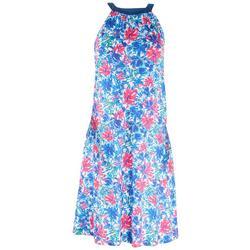 Womens Print Halter Top Dress