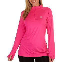 Womens Reel Tec Zip-up Neck Long Sleeve Top