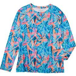Reel Legends Womens Tropical Printed Long Sleeve Top