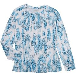 Reel Legends Womens  Printed Long Sleeve Top