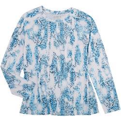 Womens  Printed Long Sleeve Top