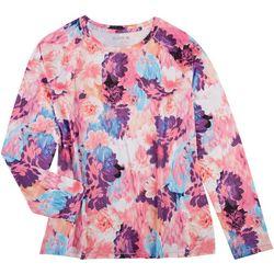 Reel Legends Womens Floral Printed Long Sleeve Top
