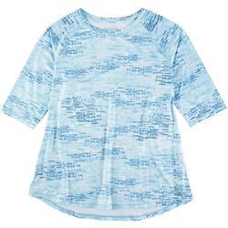 Womens Fish Print Half Sleeve Tshirt