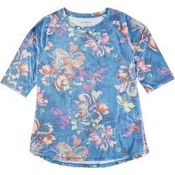 Womens Tropical Elbow Top