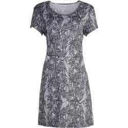 Womens Black And White Palm Tree Print Dress