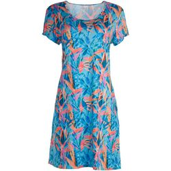 Reel Legends Womens Coloful Print Dress