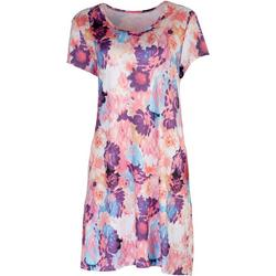 Womens Printed Short Sleeve Dress