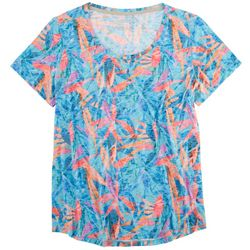 Reel Legends Womens Multi Pattern Short Sleeve Top