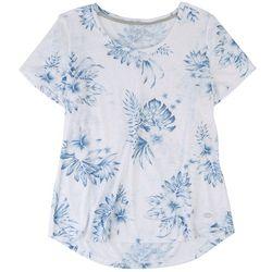 Reel Legends Womens Floral Short Sleeve Top