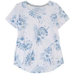 Womens Floral Short Sleeve Top