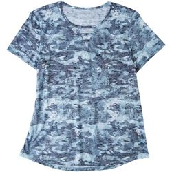 Reel Legends Womens Camo Keyhole T-Shirt