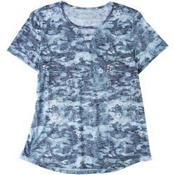 Womens Camo Keyhole T-Shirt