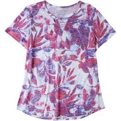 Womens Tropical Keyhole T-Shirt