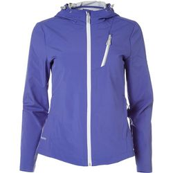Free Country Womens Solid Waterproof Windbreaker Jacket