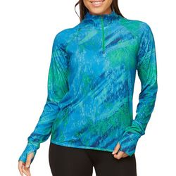 Realtree Womens Marble Print Performance Long Sleeve Top