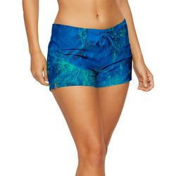 Realtree Womens Marble Print Drawsting Shorts