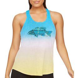 Realtree Womens Fun In The Sun Fish Gradient Tank