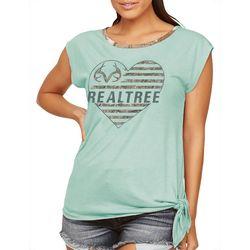 Realtree Womens Logo Cap Sleeve Shirt
