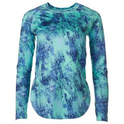Gillz Womens SeaBreeze Scales Long Sleeve Top