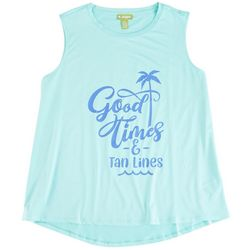 Outdoor Life Womens Good Times & Tan Lines Sleeveless Top