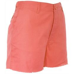 Womans Solid Cargo Shorts
