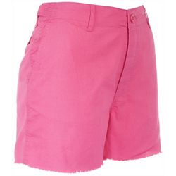 Reel Legends Womens Four Button Frayed Shorts