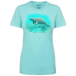 Reel Legends Womens Manatee Life T-Shirt