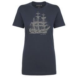 Reel Legends Womens Ship Fitted T-Shirt