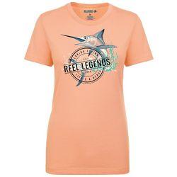 Reel Legends Womens Sailfish Fitted T-Shirt