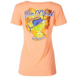 Reel Legends Womens Fin O'Clock Short Sleeve Top