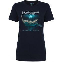 Reel Legends Womens Sea Turtle T-Shirt