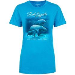 Reel Legends Womens Manatee Family T-Shirt