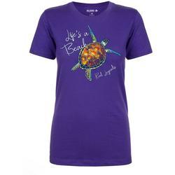 Womens Life's A Beach Sea Turtle T-Shirt