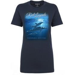 Womens Underwater Dolphins T-Shirt