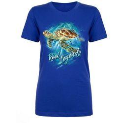 Reel Legends Womens Underwater Turtle T-Shirt