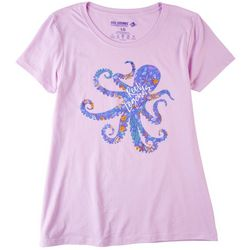 Reel Legends Womens Solid Short Sleeve With Screen Print