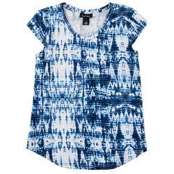 Nue Options Womens Tye Dye Cap Sleeve Top