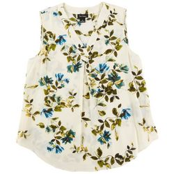 Nue Options Womens Floral Print Sleevless Top